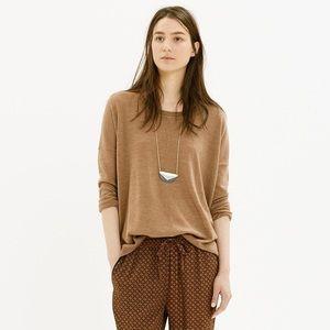 Madewell Rowhouse Merino Wool Sweater S Tan